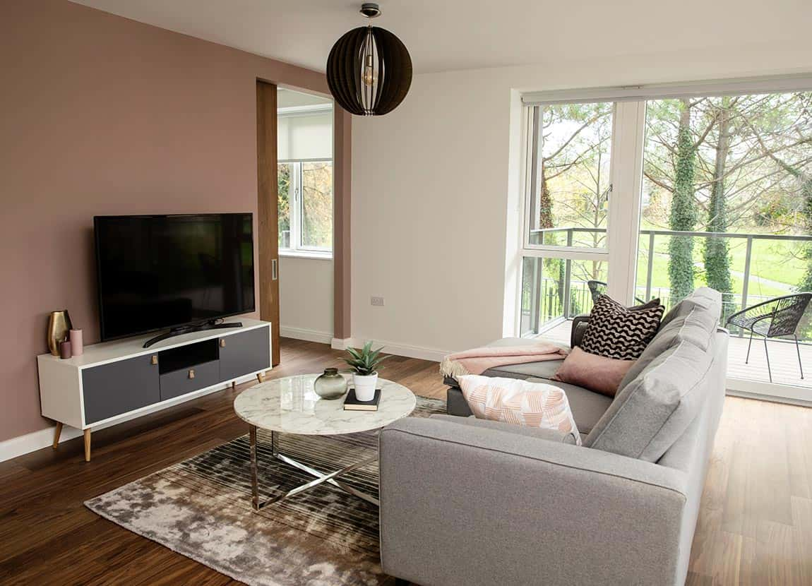 living area furnished apartments in ferbank dublin
