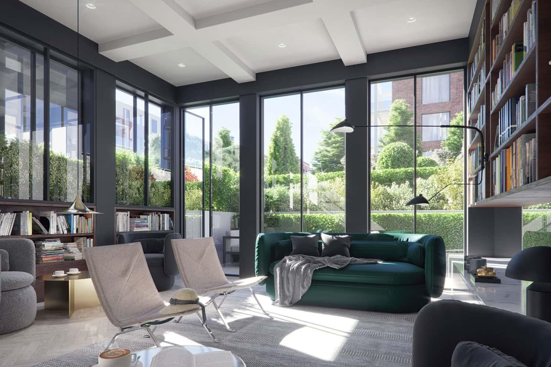 fernbank house resident amenities resident guest lounge library