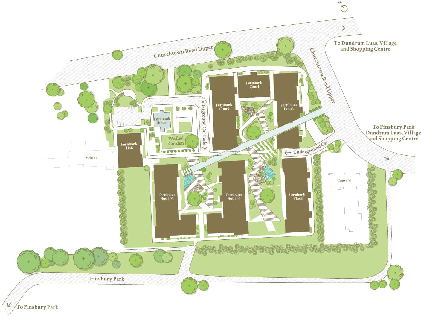 Fernbank site map