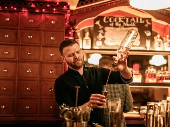 barman pouring near fernbank churchtown